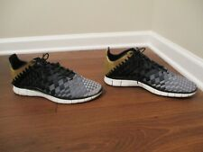 Used Worn Size 13 Nike Free Inneva Woven N7 Shoes Black Gray Gold White