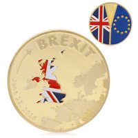 Brexit Commemorative Coin Gold or Silver Plated Coin Collection