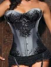 Corset Burlesque Sexy Glossy Part Satina Of Violet Lingerie