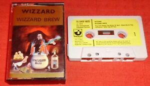WIZZARD - VERY RARE UK CASSETTE TAPE - WIZZARD BREW-ON HARVEST WITH PAPER LABELS