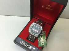 MINT NOS - Rare Orient Chronograph 1970s LCD DIGITAL WATCH with Box uhr MOT LC