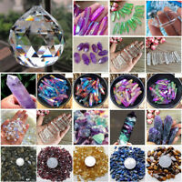 Natural Colorful Ghost Amethyst Point Quartz Healing Crystal Wand Tourmaline Lot
