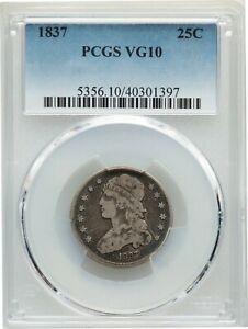 1837 Capped Bust Quarter PCGS VG-10