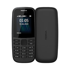 Nokia 105 4th EDIZIONE SINGLE SIM | Nero | Connettore MicroUSB/Radio FM Senza SIM