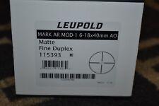 Leupold Mark MSR Mod-1 6-18x40mm AO Matte Black Fine Duplex 115393 NIB