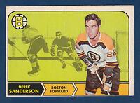 DEREK SANDERSON 68-69 O-PEE-CHEE 1968-69 NO 6 EXMINT+ 2