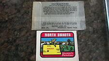 Vintage Travel Sticker Decal NORTH DAKOTA Map, Hunting, Baxter, Luggage,Camper