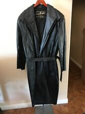 Golden Collection Raffaelo  Leather Lined TRENCH COAT  Jacket L Xl Xxl Size 42