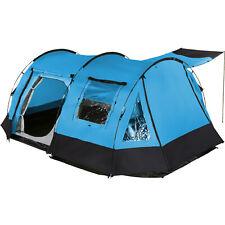 Skandika Kambo 4 Person Man Tunnel Camping Tent 3 Entrances Canopy Blue New