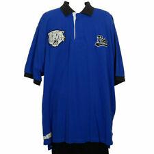 POLO RALPH LAUREN Blue Cotton Mesh Tiger Varsity Classic Fit Polo Shirt XLT