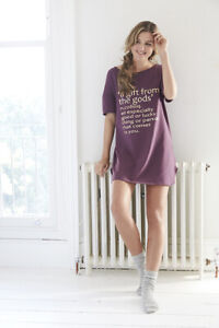 A Gift From The Gods Women's Purple Slogan Nightshirt