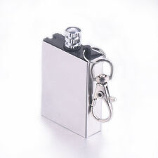 Permanent Steel Novelty Match Box Refillable Lighter Striker Gadget w/ Key Chain