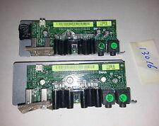 Lot of 2 Dell FK463 Precision 390 I/O Front Audio Control Panel w/FJ470 Tray