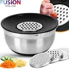 Mixing Bowl with Grater Stainless Steel Kitchen Serving Bowls Salad Anti Slip