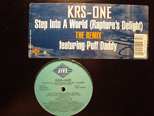 """KRS-ONE - STEP INTO A WORLD (+REMIX) (12"""")  1997!!!  RARE!!!  PUFF DADDY!!!"""