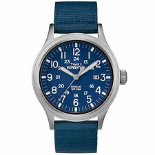 Brand New Timex Men's Expedition Scout Casual Sport Watch Blue Tan TW4B07000