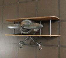Floating Industrial Retro Aeroplane Propeller Wall Shelf Display Ornament
