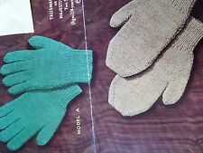 Knitting Pattern Gloves and Mittens Children Boys and Girls 3 ply Vintage