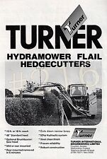 TURNER HYDRAMOWER FLAIL HEDGECUTTER ADVERT - 1980 advertisement