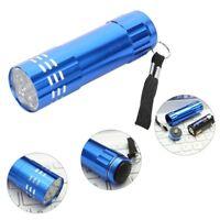 1X Mini Aluminium UV Ultravlolet LED Taschenlampe Schwarz Licht Fackel Neu