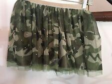 Flouncy-sparklely tulle camouflage skort Girls size 12