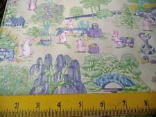 Fabric Traditions Easter Toile Bunnies Eggs for Quilts Pillows Totes 1/2 Yard