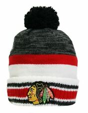 New Reebok Chicago Blackhawks Center Ice Sport Knit Toque, One Size