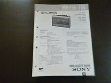 Original Service Manual Schaltplan Sony WM-F59/F69