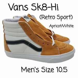 Vans Sk8 Hi Retro Sport Apricot True White Sneakers Shoes Men's Size 10.5 NEW