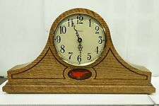 STONEYBROOK -HANDCRAFTED SOLID OAK MANTEL CLOCK WITH HARMONIC CHIMES