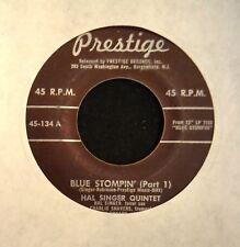 JAZZ 45 Hal Singer Quintet Prestige 134 Blue Stompin' Part 1 and Part 2