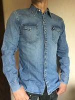 LEVI´S LEVIS Jeanshemd Jeans Hemd red cast stone blau langarm Gr.von M