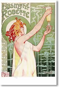 Absinthe Robette - 1895 - NEW Vintage French Art Reprint POSTER