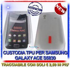 Custodia TPU Bianca red/la per Samsung S5830 Galaxy Ace