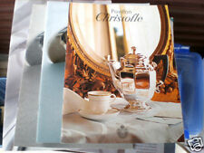 CHRISTOFLE 3 CATALOGS AND 1 PRICE LIST 1999 & NEWER