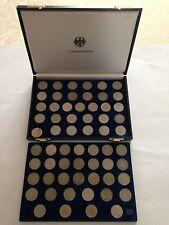2 DM Max Planck J. 392 completa 1957 - 1971, 58 monete + 2 DM spighe uva U.