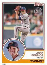 2018 Topps Series 1 1983 #/49 5x7 #83-47 Jose Berrios - Minnesota Twins
