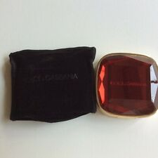 New DOLCE & GABBANA DOUBLE SIDED MIRROR COMPACT Ruby Jewel Top