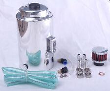 Réservoir de capture huile 2lt peut 15mm 10mm alliage grand big round universel reniflard silver