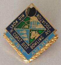 Mid North Coast District Bowling Club Badge Rare Vintage (L2)