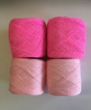 Lace yarn Crystal Colors 186 & 03 Acrylic/Rayon. 900 yards per ball. 1 lot of 4