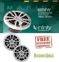 """Infinity 622MW 6.5"""" 225 Watts 2-way White Boat Yacht Marine Speakers-NEW"""