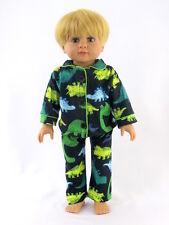 Dinosaur 2pc Pajamas Fits 18 inch American Girl Boy Doll Logan
