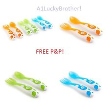 Baby Cutlery Set Multi Colour 6 Pack Munchkin Toddler Forks Spoons Weaning Soft