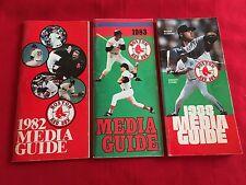 1980-2018 MLB Boston Red Sox media guide / You pick 'em / Clemens / Martinez