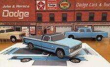 "Papercraft 1971 Dodge ""DUDE"" pickup truck paper vehicle EZU-MAKE-it  Model"