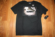 NWT Mens HURLEY Black Happiness Surfboard Graphic T-Shirt Size XL X-Large