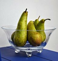 Clear Glass | Three Legged | Trifle | Fruit | Pasta | 1.5Litre | 25cm wide
