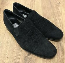Roberto Botticelli Made in Italy Mens Black Suede Loafers Shoes 10UK 44EU