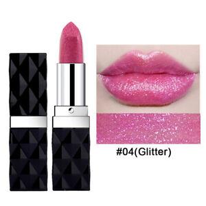Long Lasting Waterproof Matte Glitter Lipstick Lip Stick Shimmer Cosmetic